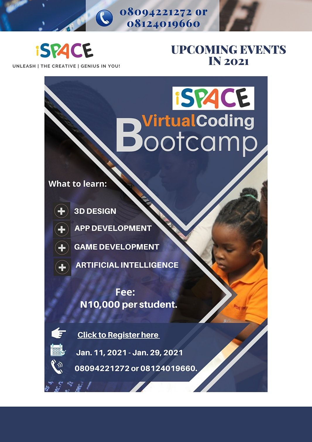 iSPACE Virtual Bootcamp | Online Event | AllEvents.in