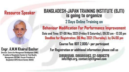 Behaviour Modification For Performance Improvement | Event in Dhaka | AllEvents.in