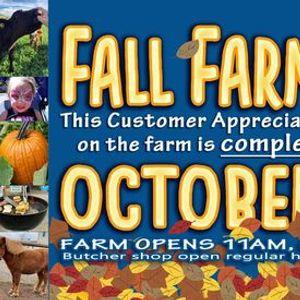 Fall Farm Fun- Customer Appreciation Day