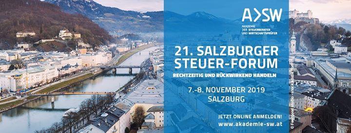 21. Salzburger Steuer-Forum