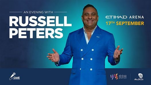 An Evening with Russell Peters | Event in Abu Dhabi | AllEvents.in
