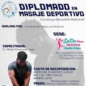 Diplomado En Masaje Deportivo con tendencia Relajante