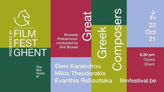 Great Greek Composers: The Film Music of Eleni Karaindrou, Mikis Theodorakis, Evanthia Reboutsika, 22 October