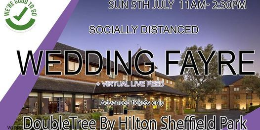 DoubleTree By Hilton Sheffield Park Socially Distanced Wedding Fayre, 19 September   Event in Chesterfield