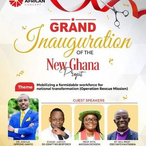 Grand INAUGURATION of the NEW GHANA PROJECT