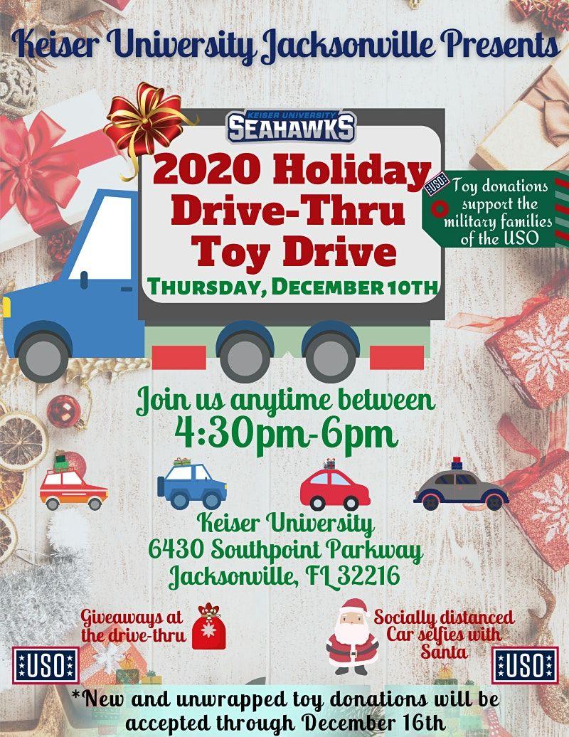Holiday Drive Thru Toy Drive, Keiser University, Jacksonville, 10