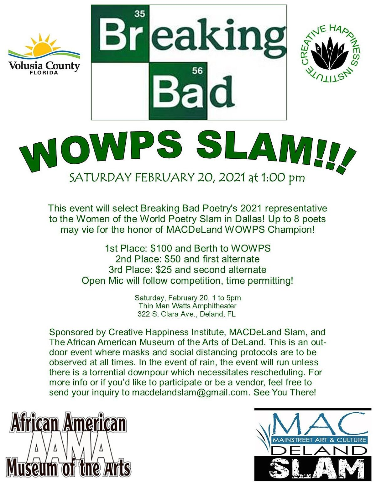 2021 Breaking Bad WOWPS Qualifier, 20 February | Event in DeLand | AllEvents.in