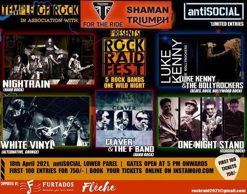 ROCK RAID FEST, Vol. 1, 18 April | Event in Mumbai | AllEvents.in