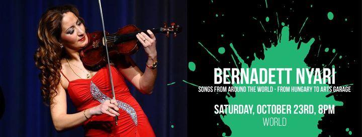 Bernadett Nyari: Songs From Around the World - From Hungary to Arts Garage, 23 October   Event in Delray Beach