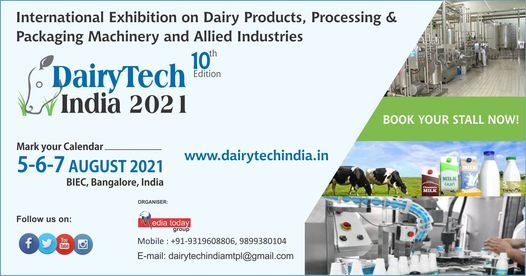 DairyTech India 2021, 5 August | Event in Bangalore | AllEvents.in