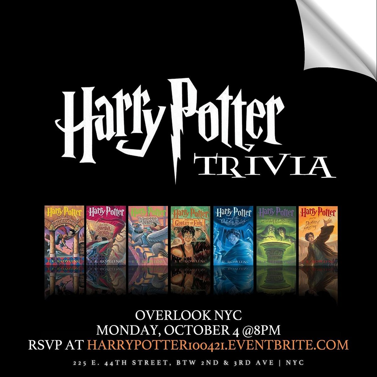 Harry Potter (Book) Trivia, 4 October | Event in New York | AllEvents.in