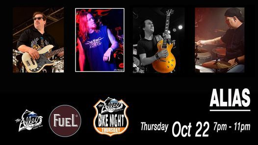 Alias   Live Music Thursday Bike Night At The Alley & Fuel BBQ, 22 October   Event in Sanford   AllEvents.in