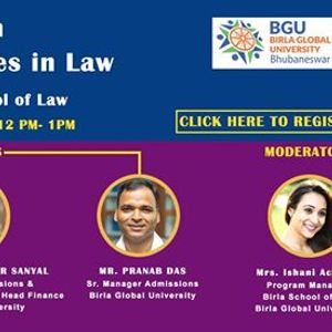 Webinar on career opportunities in law