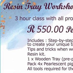 Resin Tray Workshop for Beginners