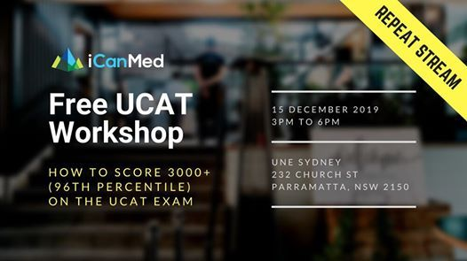 W. SYD Free UCAT Workshop How to Score 3000 (96th Percentile)