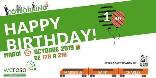 Invitation  1 an de coworking dans la gare Saint-Charles