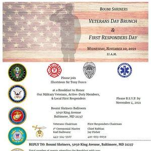 Veterans Day Breakfast & First Responders Day