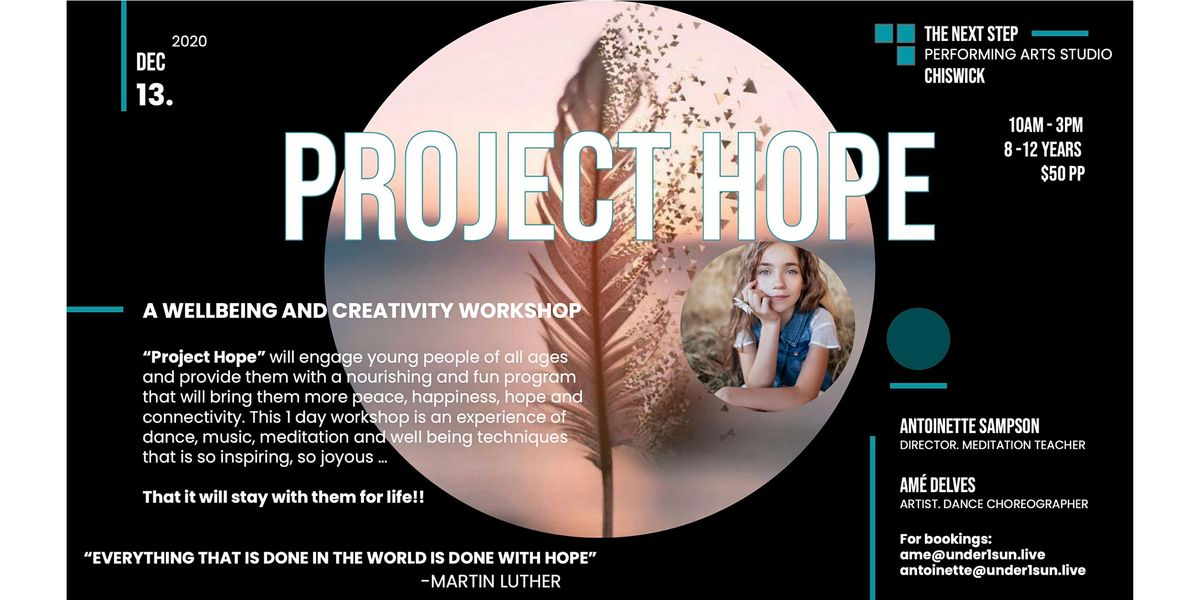Project Hope 1-Day Creativity and Wellbeing Workshop 8-12 year olds, 13 December   Event in Chiswick   AllEvents.in