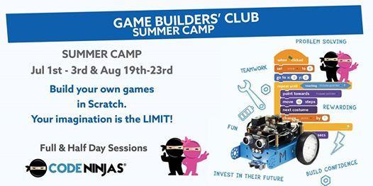 Game Builders Club Aug 19th-23rd Mornings at Code Ninjas