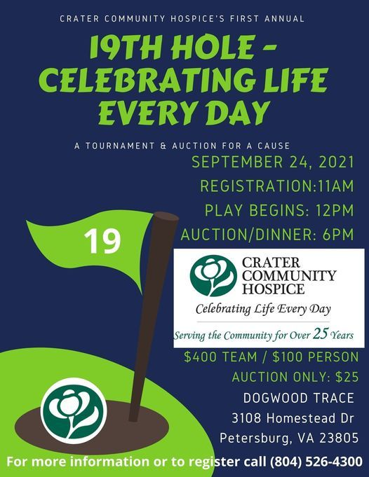 Crater Community Hospice Charity Golf Tournament & Auction, 24 September   Event in Petersburg   AllEvents.in