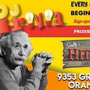 DJ Trivia at Scottys Hideaway