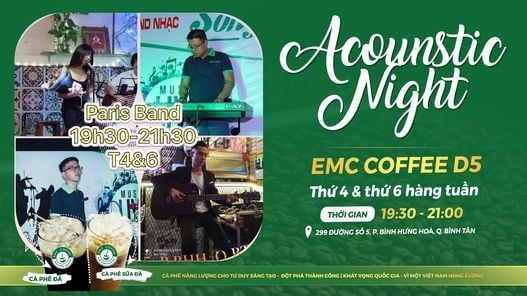 Acoustic Night - EMC Coffee D5 | Event in Ho Chi Minh City | AllEvents.in