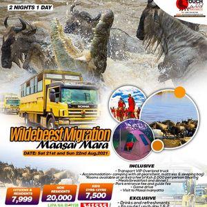 2 Days Wildebeest Migration Masai Mara on 2122nd Aug ksh 7999