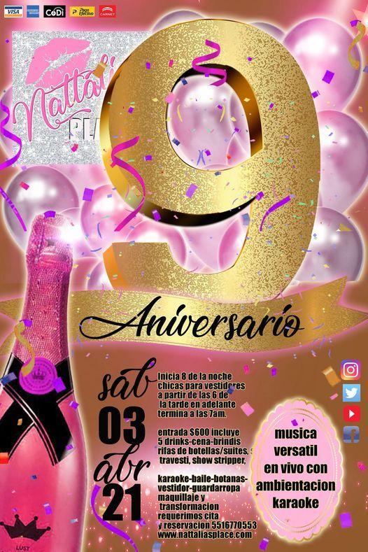9º Aniversario Nattalias PLACE, 3 April | Event in Mexico City | AllEvents.in
