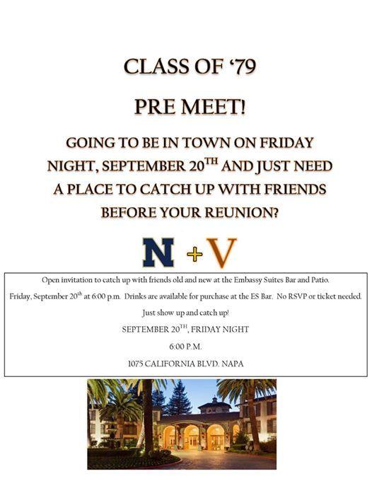 Class of 79 Reunion Pre Meet