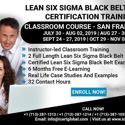Lean Six Sigma Black Belt (LSSBB) Certification Training Course in Seattle WA USA.