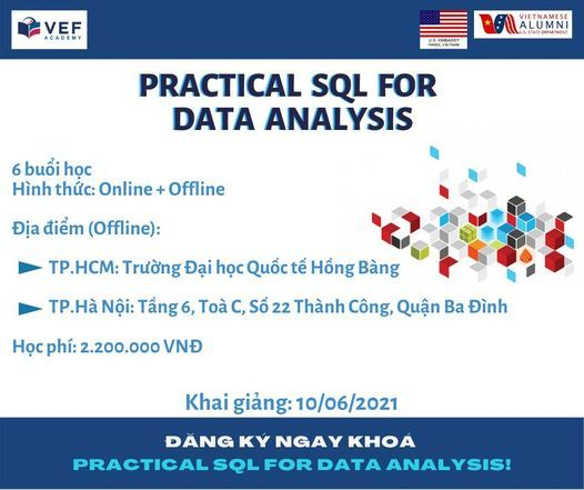 """Khoá học """"Practical SQL for Data Analytics"""" 
