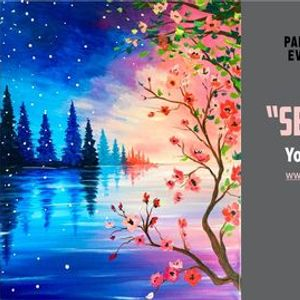 FREE Acrylic Painting Tutorial - Seasons Changing
