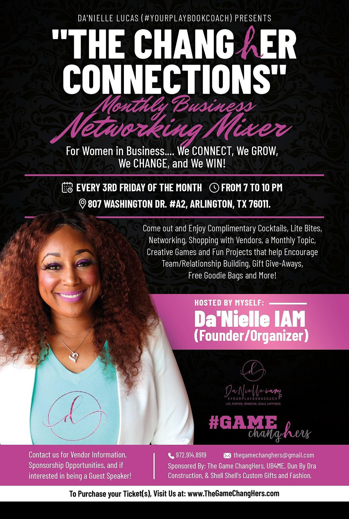 The ChangHer Connections Monthly Business Networking Mixer (Paint & Sip), 20 August   Event in Arlington