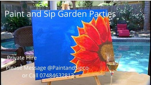 Paint and Sip Garden Parties Newcastle Tyneside