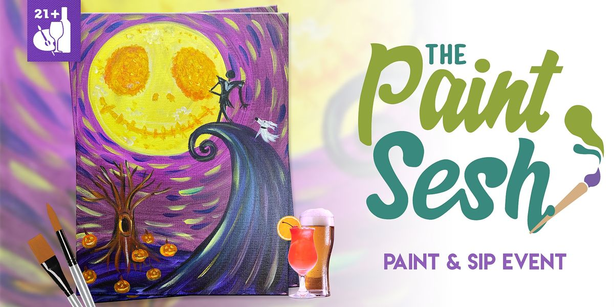 """Paint and Sip in Downtown Riverside, CA – """"This is Halloween"""" at El Patron, 20 October 