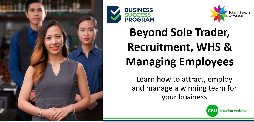 Beyond Sole Trader, Recruitment, WHS and Managing Employees, 23 September   Event in Blacktown   AllEvents.in