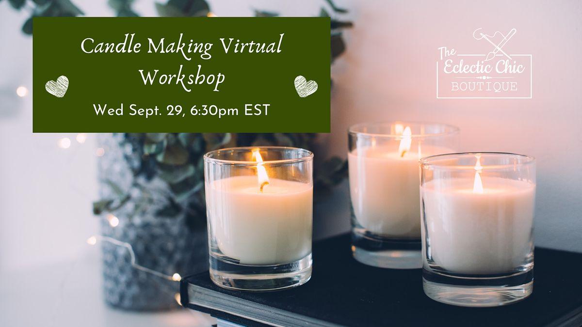 Candle Making Virtual Workshop, 29 September | Online Event | AllEvents.in