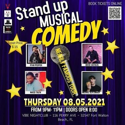 Michael Glatzmaiers Nearly Famous Tour Improvised Musical Stand-Up Comedy