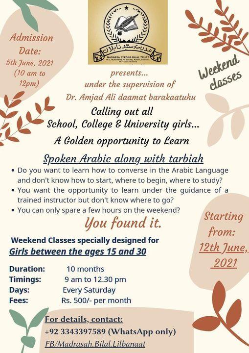 Weekend Classes for Spoken Arabic, 6 June | Event in Karachi | AllEvents.in