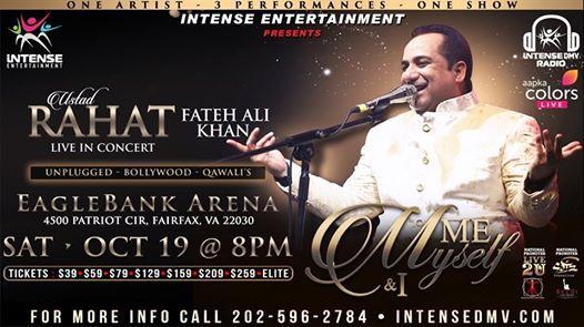 Ustad Rahat Fateh Ali Khan Live in VA at EagleBank Arena, Fairfax