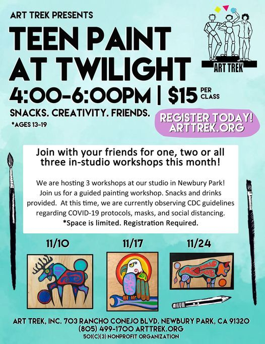Teen Paint at Twilight | Event in Newbury Park | AllEvents.in