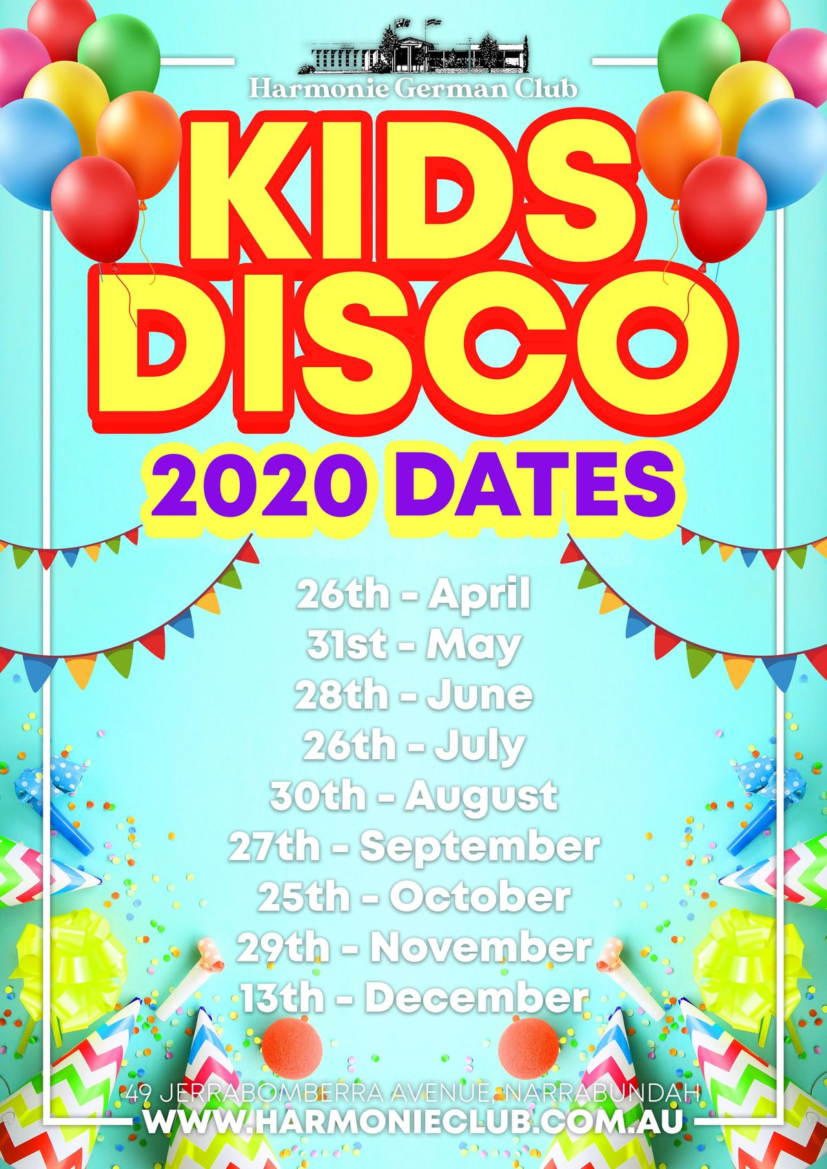 Junior Groovers Disco 2020