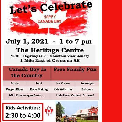 July 1 Canada Day Celebration