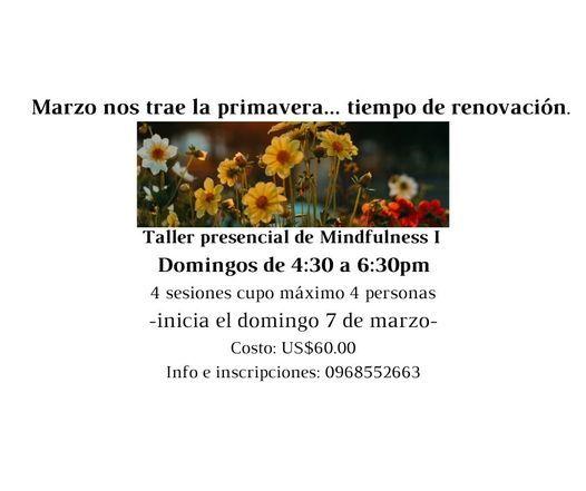 Taller presencial de Mindfulness I, 7 March | Event in Santo Domingo | AllEvents.in