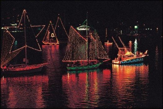 Annapolis and night Christmas Boat Parade