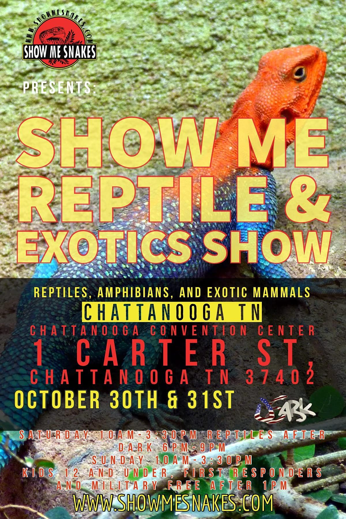 Show Me Reptile & Exotics Show (Chattanooga, TN), 30 October | Event in Chattanooga | AllEvents.in