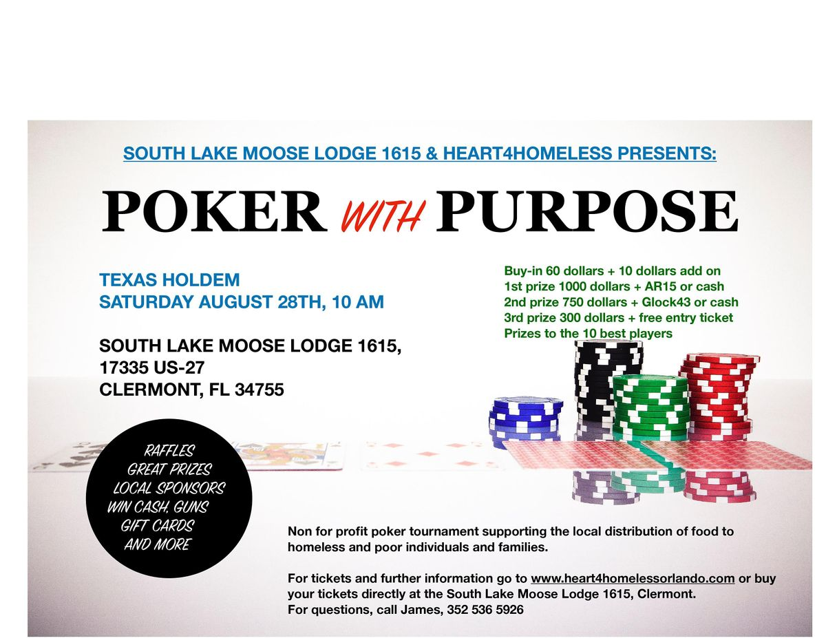 Poker with purpose August 28th tournament, 28 August | Event in Clermont | AllEvents.in