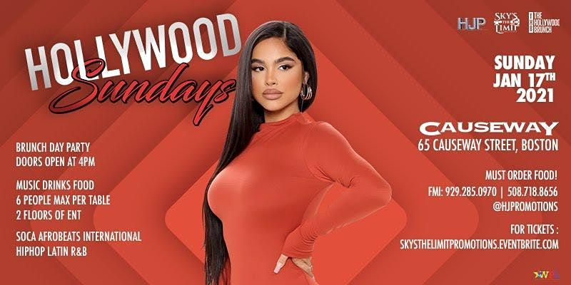 THE HOLLYWOOD SUNDAYS!!!, 17 January | Event in Boston | AllEvents.in