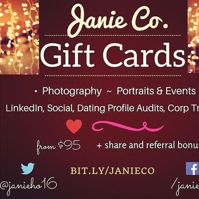 Portrait Photography Gift Cards or LinkedIn Social  Digital Consulting