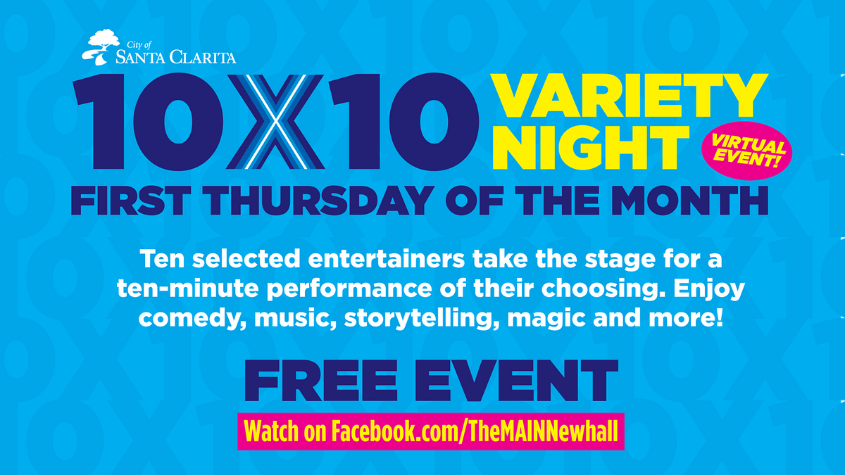 10 By 10 Variety Night, 6 May | Online Event | AllEvents.in